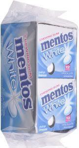 Mentos White Chewing Gum With Super Mint 12x17g