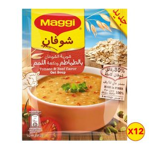 Maggi Soup Oat Tomato + Beef 12x65g