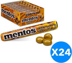 Mentos Choco Toffees Stick Caramel & Chocolate Flavour 24x37.8g
