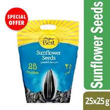 Best Sunflower Seeds Poly Bag 25x25gm