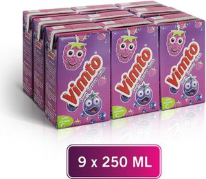 Vimto Fruit Flavour Still Fibre Brick Drink 9x250ml