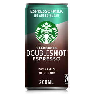 Starbucks Doubleshot No Added Sugar Coffee Drink Can 200ml