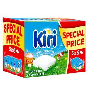 Kiri Spreadable Cream Cheese Squares 108g