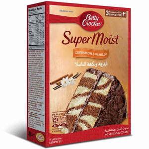 Betty Crocker Supermoist Cinnamon Cake Mix 500g