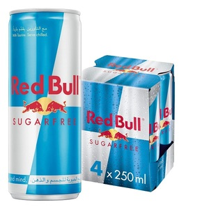 Red Bull Energy Drink Sugar Free 4x250ml