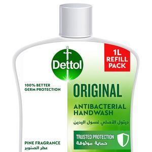 Dettol Original Handwash Liquid Soap Refill Pine Fragrance 1L