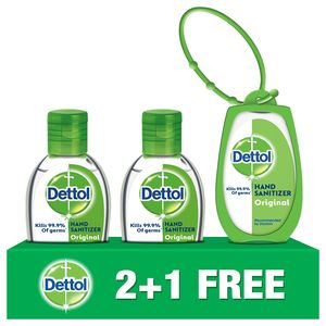Dettol Original Hand Sanitizer 3x50ml