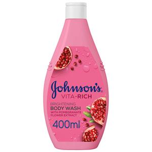 Johnson's Body Wash Vita-Rich Brightening Pomegranate Flower 2x400ml