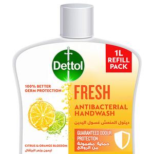 Dettol Fresh Handwash Liquid Soap Refill Citrus & Orange Blossom Fragrance 1L