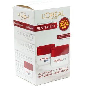 L'Oreal Face Cream Revitalift Day +Night 50ml+50ml