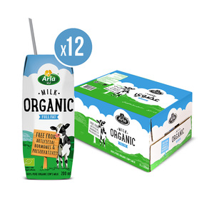 Arla Organic Full Fat Milk 12x200ml