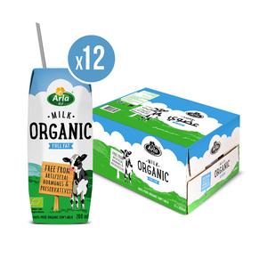 Arla Organic Full Fat Milk 12x200ml
