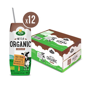 Arla Organic Chocolate Milk 12x200ml