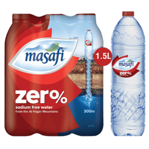 Masafi Water Zero Sodium 6x1.5L