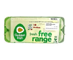 Golden Irish Free Range Medium Eggs 10s