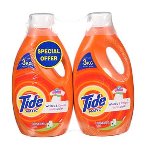 Tide Whites & Colors Power Gel Liquid Detergent 2x1.8L