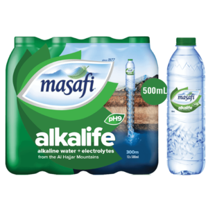 Masafi Alkalife Drinking Water 12x500ml
