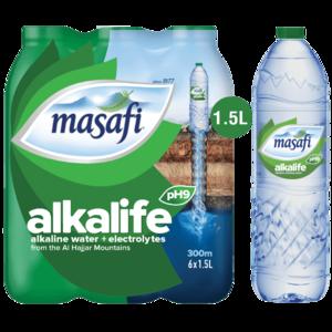 Masafi Alkalife Drinking Water 6x1.5L