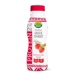 Nada Greek Yoghurt Strawberry With Cereal Drink 330ml