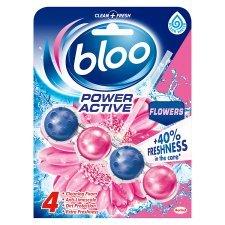 Bloo Toilet Rim Block Power Active Flowers 50g