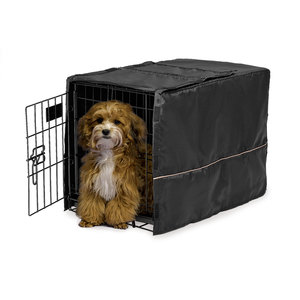 Midwest Homes Black Polyester Crate Cover 42 inch