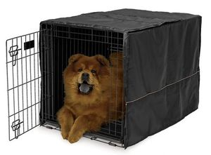 Midwest Homes Black Polyester Crate Cover 24 inch