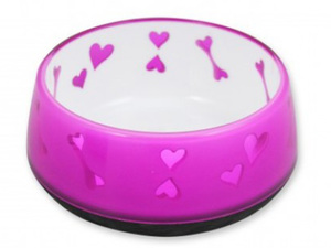 All For Paws Dog Love Bowl Pink - Medium 1pc