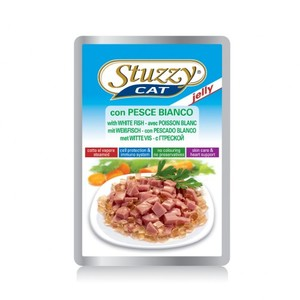 Stuzzy Cat With White Fish Jelly 100g