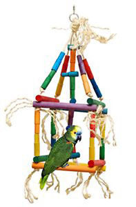 Zoo Max Single Cube Medium Parrot Toy 1pc