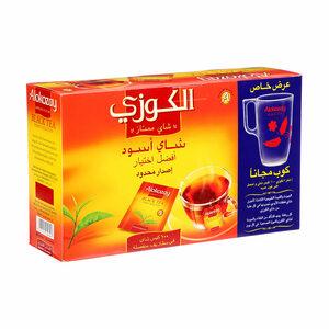 Alokozay Tea Bag Black + Mug Free 100s+mug