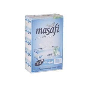 Masafi White Soft Facial Tissue X5 150s