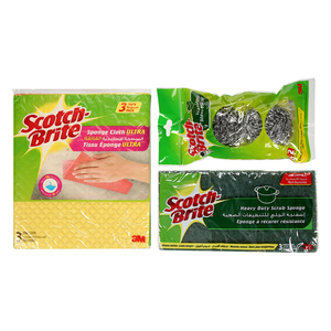 3M Scotch Brite Sponge Cloth + Spiral 1set
