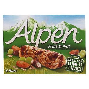Alpen Fruit & Nut Bars 5X28g