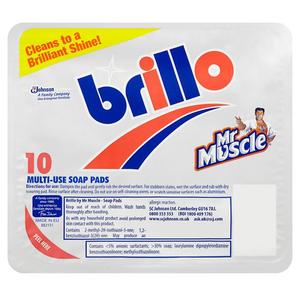 Mr Muscle Brillo Soap Pads 10pc
