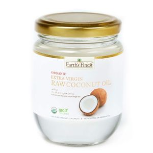 Earth's Finest Organic Extra Virgin Raw Coconut Oil 200ml
