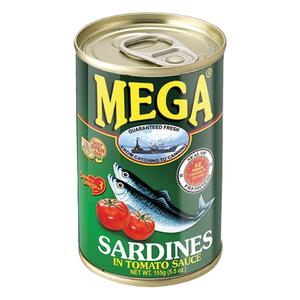 Mega Sardines In Tomato Sauce 155g