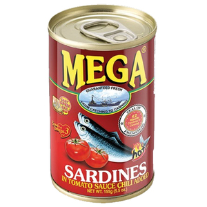 Mega Sardines In Tomato Sauce With Chili 155g