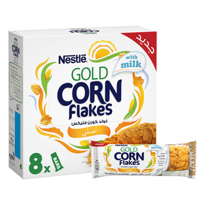 Nestle Gold Corn Flakes Cereal Bar With Milk 8x20g
