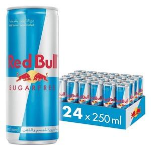 Red Bull Energy Drink Sugar Free Carton Pack 24x250ml