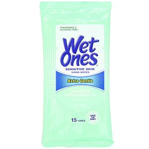 Wet Ones Thick & Durable Moist With Vitamin E & Aloe Vera 15s