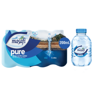 Masafi Pure Natural Water Low Sodium Shrink Wrap 12x200ml