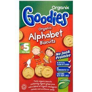 Organix Alphabet Biscuits 5x25g