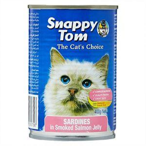 Snappy Tom Cat Sardine In Salmn Jelly 400g