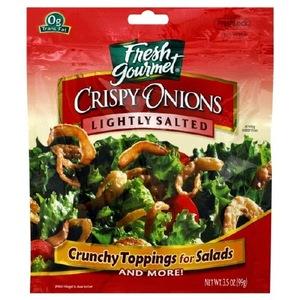 Fresh Gourmet Crispy Onions Low Salted 3.5oz