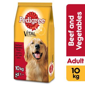 Pedigree Beef & Vegetable Flavor Adult Dog Food 10kg