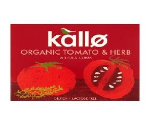 Kallo Organic Tomato & Herbs Cubes 66g