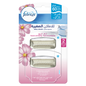 Febreze Small Spaces Flowers And Spring Air Freshener Refill 2s