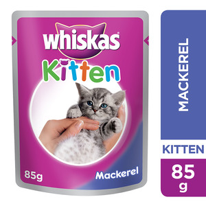 Whiskas In Jelly with Mackarel Wet Cat Food Kitten Up to 1 year Pouch 85g