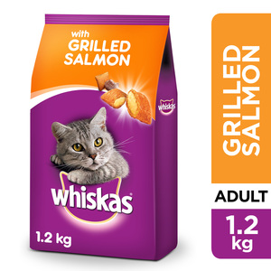 Whiskas Grilled Salmon Dry Cat Food Adult 1+ Years 1.2kg
