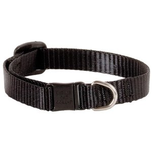 Lupine Basics Black Cat Collar With Safety Buckle 21-30cm